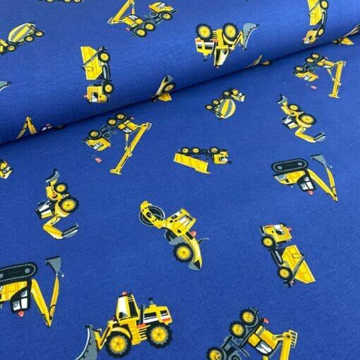 Jersey med anleggsmaskiner - blå