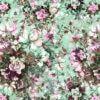 Jersey med roser - Mint