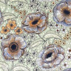 Jersey Blomsterdrøm, blå-brun