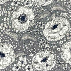 Jersey Blomsterdrøm, grå-blå