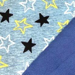 Softshell med stjerner- blåmelert