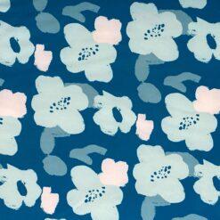 Softshell flotte blomster - blå