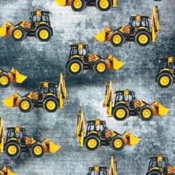 Jersey med gravemaskiner (grå)