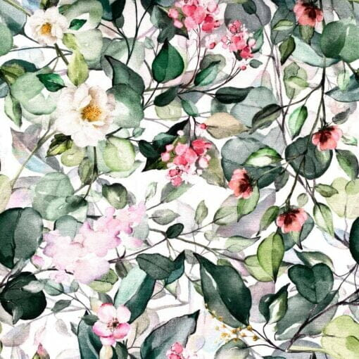 Jersey med oline blomster - aquarell