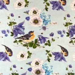 Jersey med bokfink - blå
