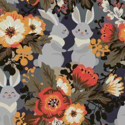 Jersey med retro kaninvenner