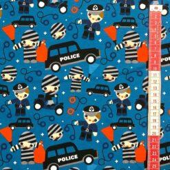 Jersey med politi og røver - petrol