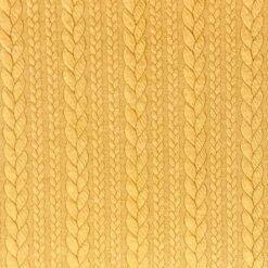 Kabelstrikket Jacquard - Sennep