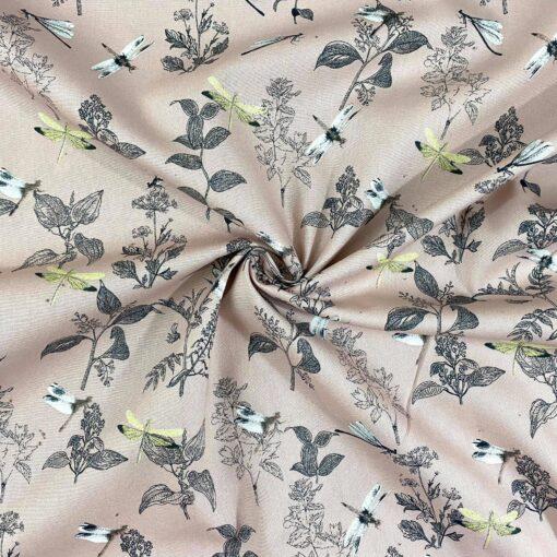 Bomullspoplin Øyenstikker - Rosa