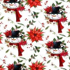 Jersey – Snømann julestjerne - hvit