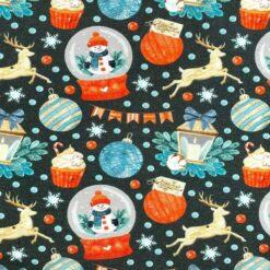 Jersey – Snøkule julepynt - koksgrå
