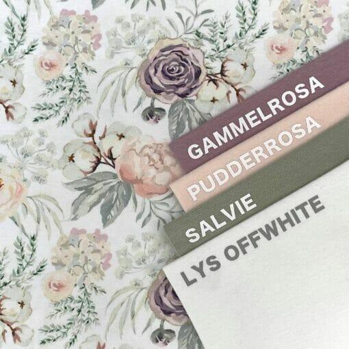 Jersey – Pastellblomster - hvit