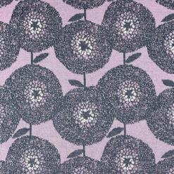 Merinoull Jacquard - Bloom - Aubergine