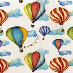 Jersey - Luftballonger aquarell - hvit