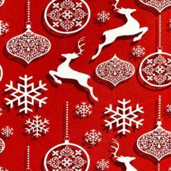 Jersey – Juleornamenter med hjort - rød