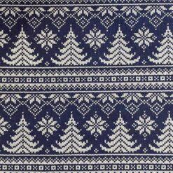 Jersey - Strikket juletre blå