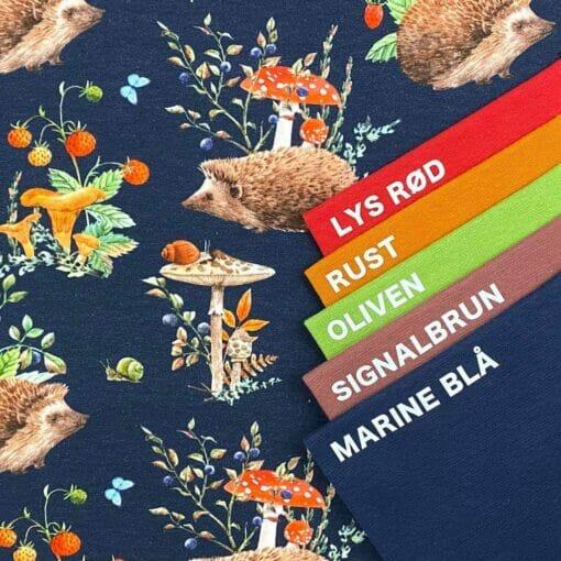 Jersey – Pinnsvin med skogsbær - marine