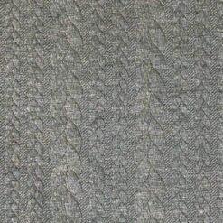 Kabelstrikket Jacquard - Støvet militærgrønn