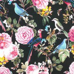 Jersey – Fugleblomst - svart