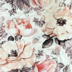 Jersey – Skisset blomsterkvist- hvit