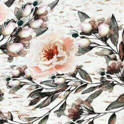 Jersey – Bloom aquarell - hvit