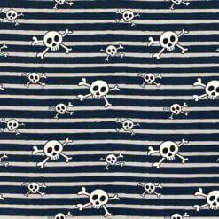 Jersey – Stripeskulls - denim