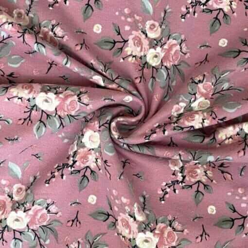 Jersey – Teline blomster - gammelrosa