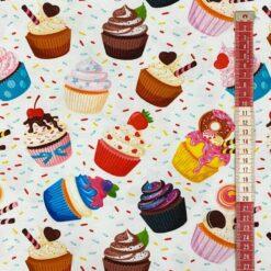 Jersey – Cupcakes - hvit