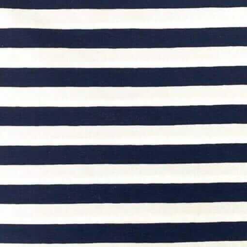 Jersey – Striper - marineblå
