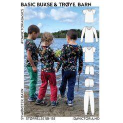 Ida Victoria - Basic bukse & trøye til barn og baby (str. 50-158)