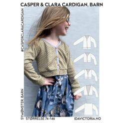 Ida Victoria - Casper & Clara Cardigan til barn (str. 74-146) Mønster, Papir
