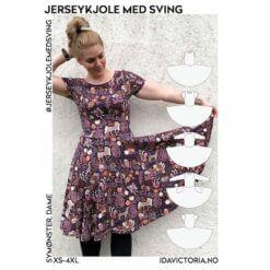 Ida Victoria - Jerseykjole med sving (XS-4XL) – Mønster, Papir