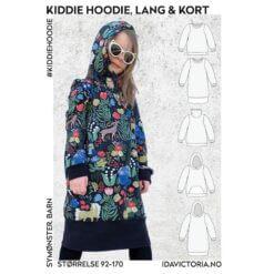 Ida Victoria - Kiddie Hoodie – lang & kort genser til barn (92-170) Mønster, Papir