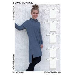 Ida Victoria - Tuva Tunika (XXS-4XL) Mønster, Papir