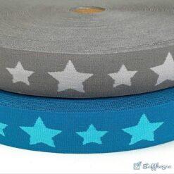 Boxerstrikk elastikk - stjerner 35mm