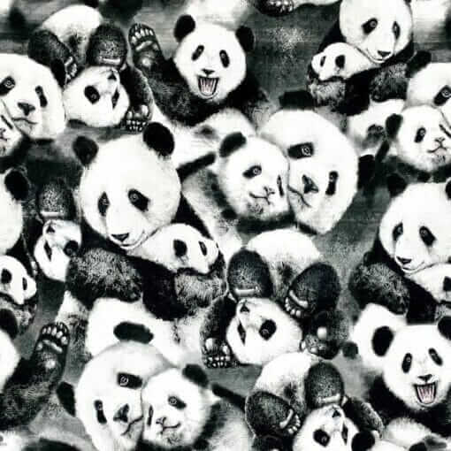 French Terry - Panda - Mainelakeus