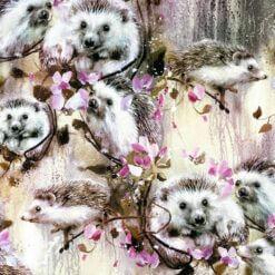 French Terry - Hedgehog lilla - Mainelakeus