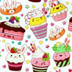 Jersey - Candycake - hvit