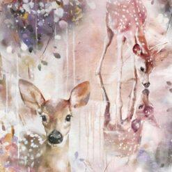 Vevet bomull - Turvassa deer - Mainelakeus
