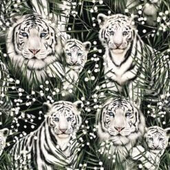 French Terry - White tigers - Mainelakeus