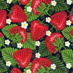 Jersey - Saftige jordbær - svart