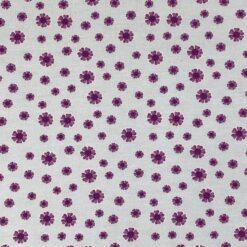 Jersey - Hedvig blomster - lyseblå