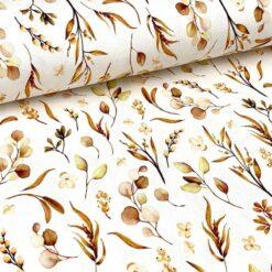 Jersey - Vilja blader - brun