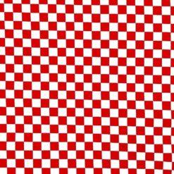 Jersey - Sjakkruter rød/hvit